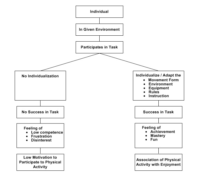 Summary Flowchart of individualization of individuals with disabilities in inclusive environments and motivation levels