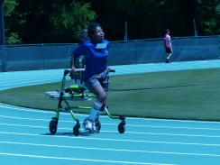 a participant uses a walker in a track event