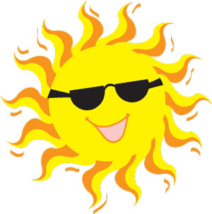 clip art image of a smiling sun