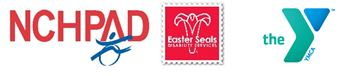 logos for nchpad, easter seals, and ymca