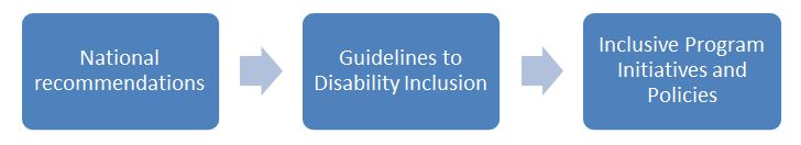 infographic outlining the disability inclusion policy guidelines