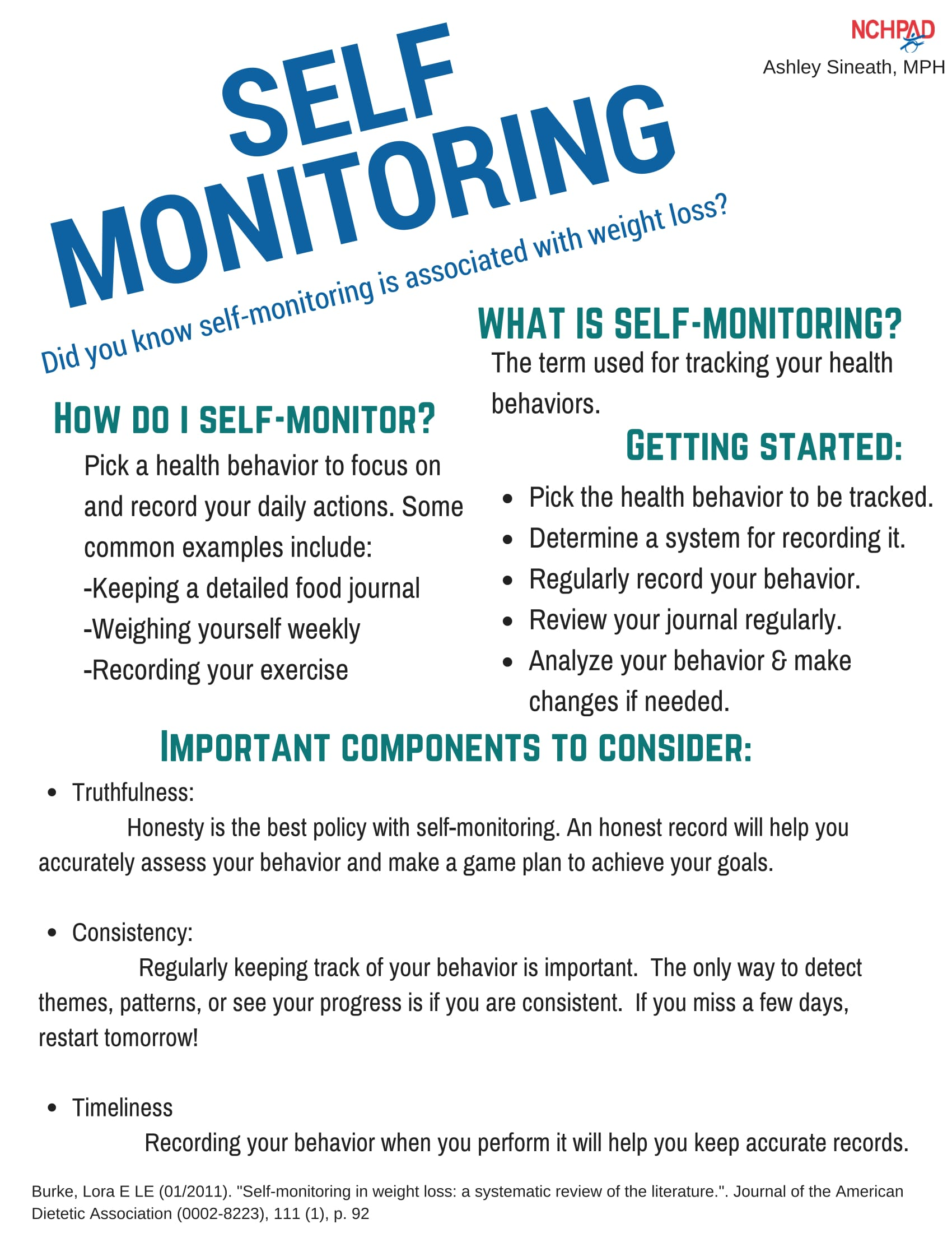 self monitoring nchpad building healthy inclusive communities