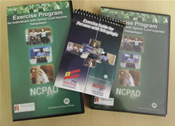 A display of NCHPAD products - DVD, Video & Quick Series Booklet.