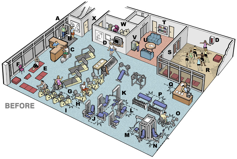 Before After A Fitness Center Makeover